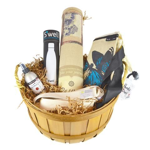 Organic yoga gift basket - great for Mother's Day!