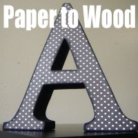 How to glue scrapbook paper to wood. So much better than mod podge!