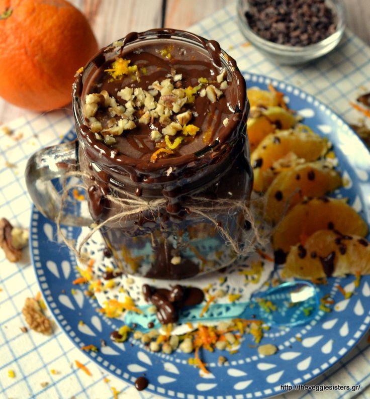 Λαχταριστό σμούθι με γεύση πορτοκαλένιας σοκολατόπιτας! Κανείς δεν θα αντισταθεί σε μια τέτοια υγιεινή λιχουδιά! Scrumptious chocolate orange smoothie! No one can resist to such a healthy and yummy temptation!