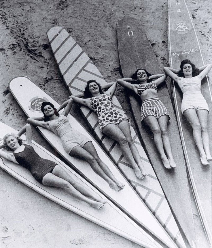 Toned & Tanned- surfer girls have always been sexy! #Surfer #Girls #Surfboards