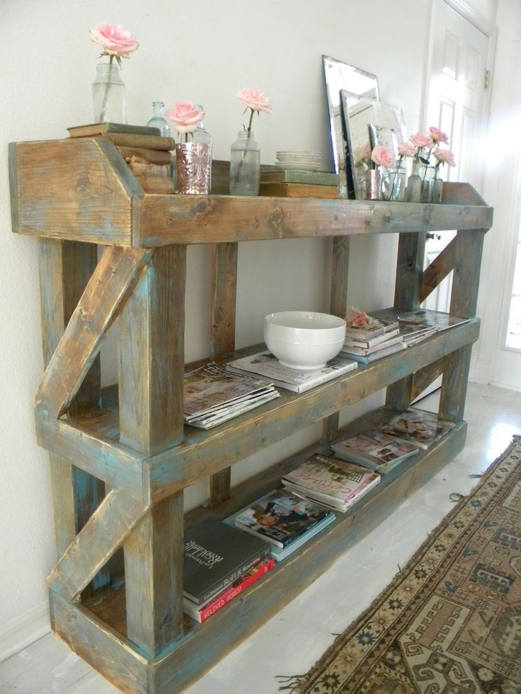 Pots Tables, Decor Ideas, Pallets Wood, Shabby Chic Cottage, Decorating Ideas, Wood Storage, Small Spaces Decor, Small Space Decorating, Shabby Chic Decorating