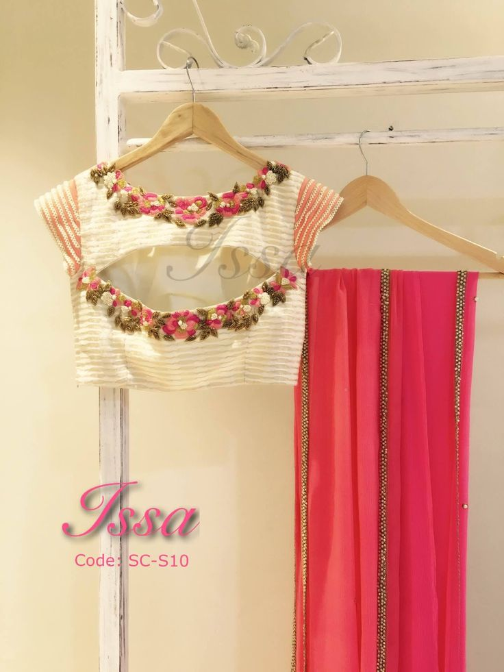 SC-S10 Saree: It is as pretty as it looks.peachy pink chiffon saree and  patterned blouse with thread and zardosi detailing.To order please call/ WhatsApp on 9949944178 or mail us @issadesignerstudio@gmail.com 14 September 2016