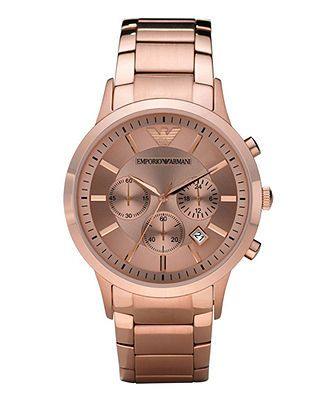 Emporio Armani Watch, Women's Chronograph Rose Gold Tone Stainless Steel Bracelet AR2452 - Women's Watches - Jewelry & Watches - Macy's