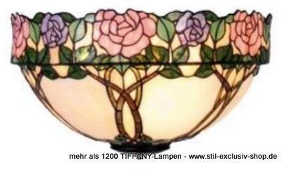 EXTRA-Modell!  Schmückende TIFFANY-Decken-Lampe, unsere Serie DAPHNE.  50cm ø. ca. 28cm hoch. 2 x E-27, je 60W.                Meisterklasse = sorgfältig im Glasofen gerundete ausgesuchteTIFFANY-Gläser wurden hier aufwändig für unser Modell DAPHNE zusammengefügt. Die eingearbeiteten Zweige enden im versetzt hergestellten breiten Blütenrand, eine handwerklich sehr schwierige TIFFANY-Herstellung der absoluten Meister-Klasse!