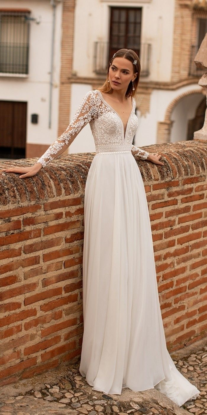 Nora Naviano Wedding Dresses 2021 Wedding Dresses Short Lace Wedding Dress Dresses [ 1400 x 700 Pixel ]