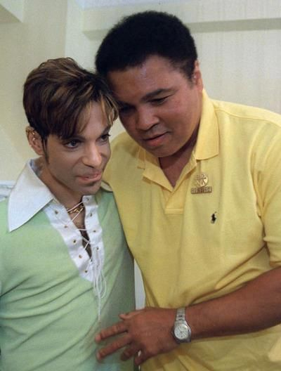 This is an amazing photo of Prince and Muhammad ALi. RIP to 2 beautiful souls. xo