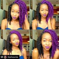 Factory direct sale havana twist braiding hair 10-12inch purple color 1pack only 100% kanekalon fiber crochet hair braids