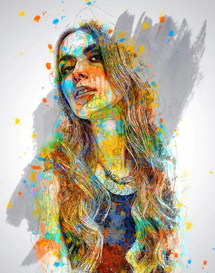 Paints Art Photoshop Action Akvarel