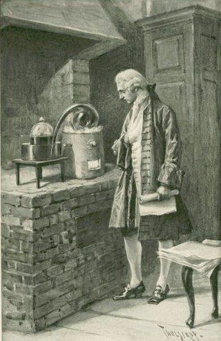 Antoine Lavoisier dans son laboratoire. 8 mai 1794 : exécution du chimiste Antoine-Laurent Lavoisier. Histoire de France. Patrimoine. Magazine