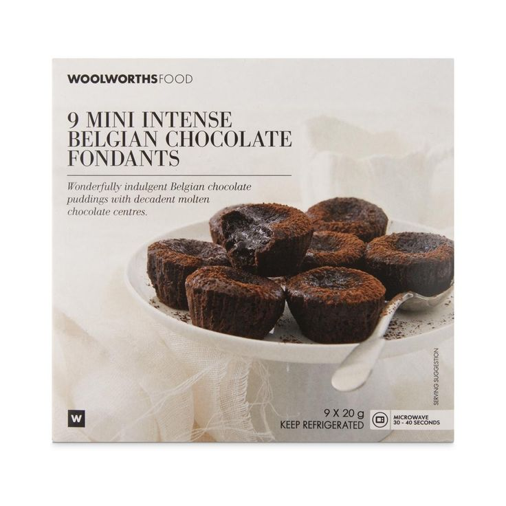 Mini Intense Belgian Chocolate Fondants 9x20g