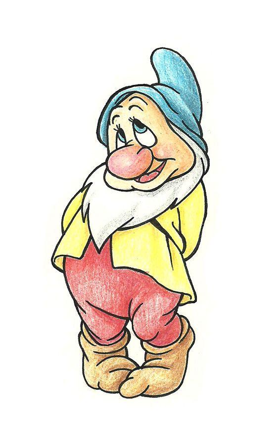 How to Draw Bashful dwarf from Disney's Snow White: 7 Steps