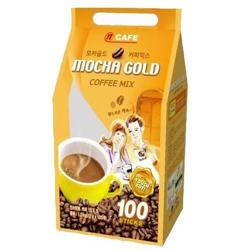 CNF Korea Mocha Gold Tender & Mild Taste Coffee Mix 100T (12g x 100Sticks) #CNFKorea