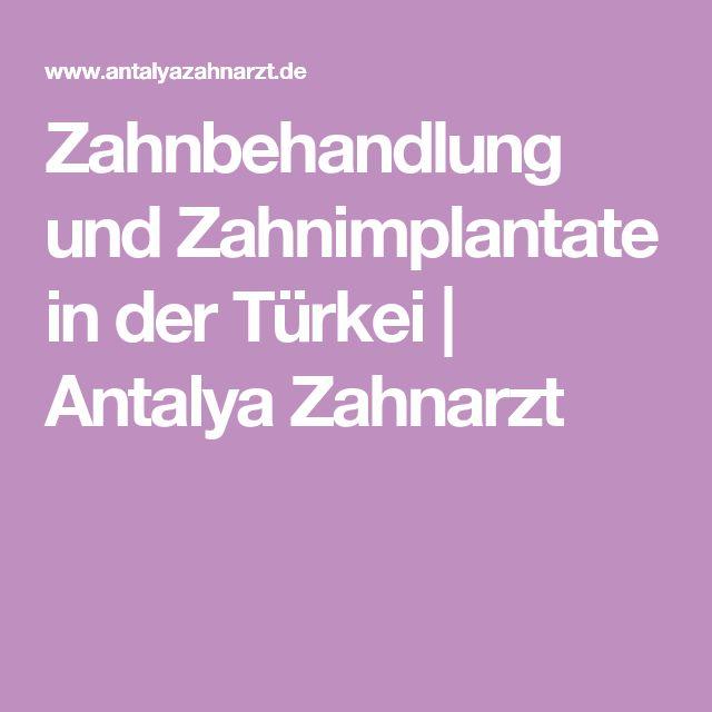 Zahnbehandlung und Zahnimplantate in der Türkei | Antalya Zahnarzt