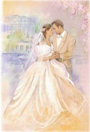 Свадебные картинки для декупажа: фото-галерея