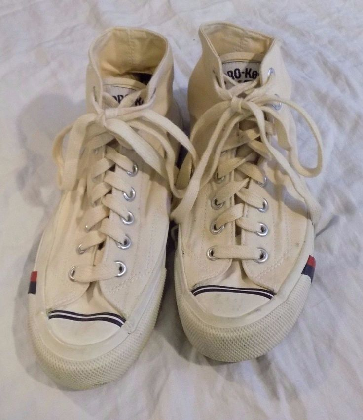 Pro Keds 69er Uptowner White Canvas Sneakers Sz 6.5 Men 8 Women | eBay
