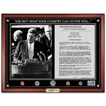 The JFK Inaugural Address Masterpiece Framed Wall Decor
