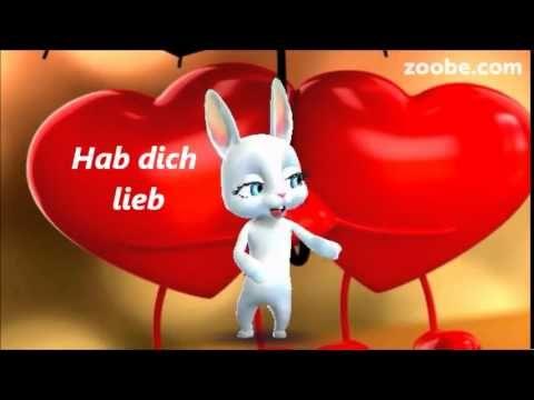 Hab dich lieb -  schön, dass es dich gibt ; -) Liebe, Zoobe, Animation