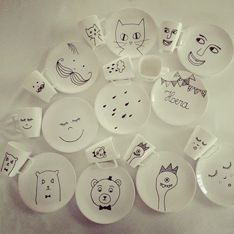 How fun are these? A porcelain marker and an oven is all you need!