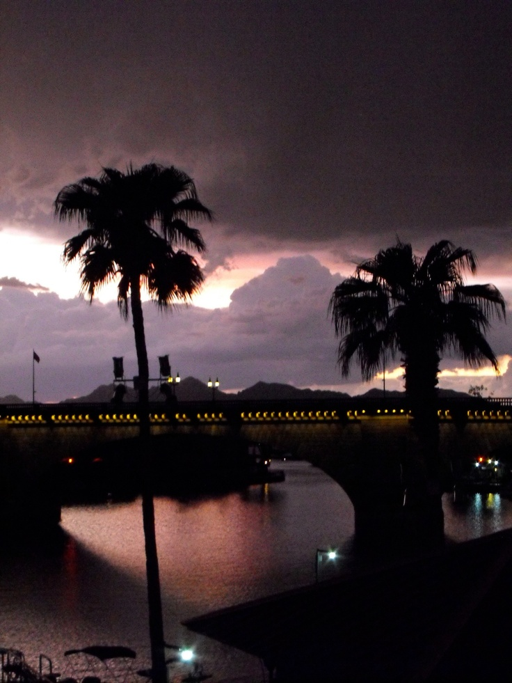 During monsoon weather at Lake Havasu.
