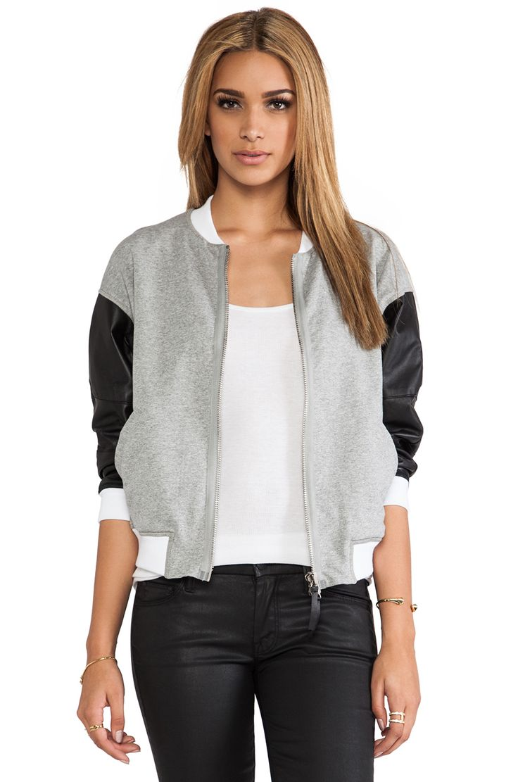 BROGDEN Bomber Jacket in Black & White from REVOLVEclothing
