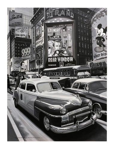 Artist : Alain Bertrand Title : Rear Window Media : Original - Oil on Canvas Size : 73 x 92cm Price : POA