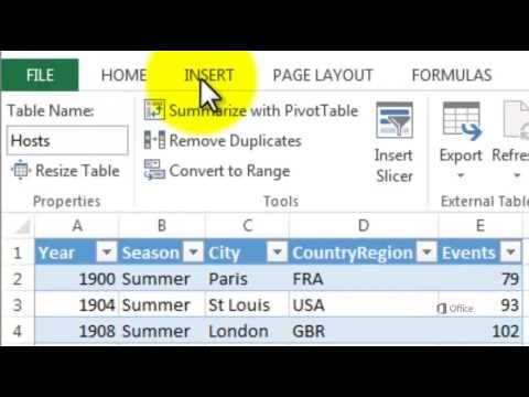 Getting Started with Power View in Excel 2013