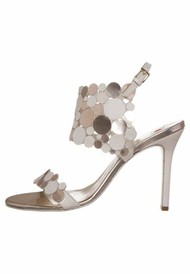 Guido Maria Kretschmer for Högl High Heel Sandalette ecru platin €169 Spring 2014 #Shoes #Heels