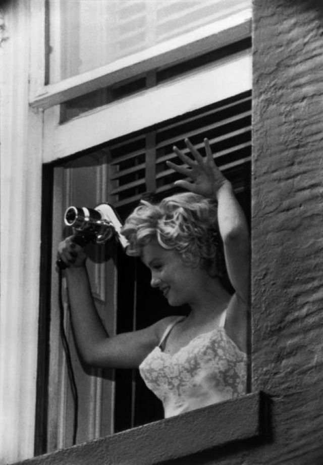 """New York. US actress Marilyn Monroe during the filming of """"The Seven Year Itch"""" by Billy WILDER. 1958. , 1958  by Bob Henriques  Photograph"""