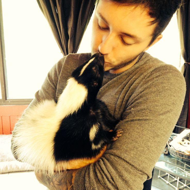 Boyfriend and pet skunk