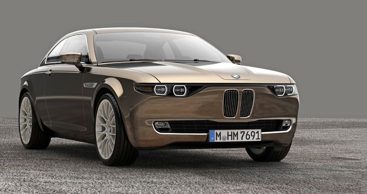 BMW CS vintage concept by david obendorfer pays tribute to 1968 E9 series