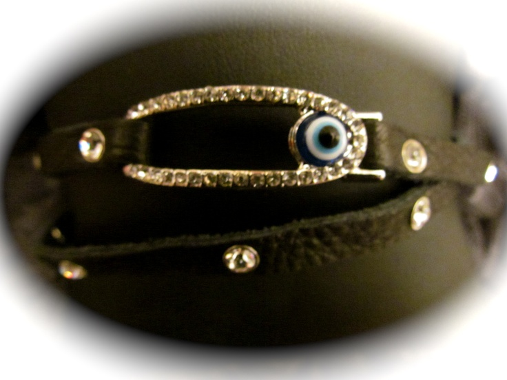 Black Evil Eye Wrap Around Bracelet $25 LuckyOneJewelry FaceBook page..