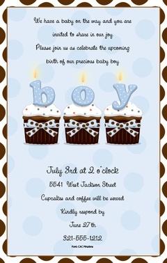Baby shower invite boy