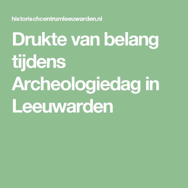 Drukte van belang tijdens Archeologiedag in Leeuwarden