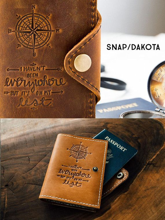 eb6597e42da7 Passport Holder Travel Passport Personalized Cover... Custom Full ...