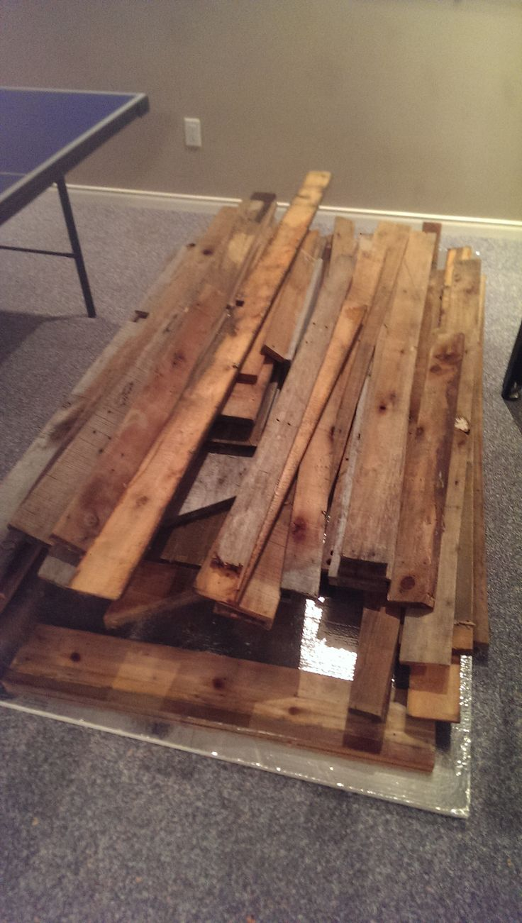 Stage 1: Weathered lumber. Thanks to Yves for letting me take all this!