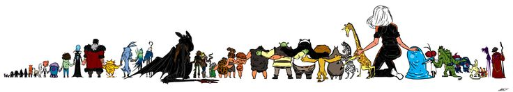 Lovely piece by Januel Mercado. These past few weeks have been very tough for our studio. >> I think it's a picture of all the DreamWorks characters. (I saw Toothless first)