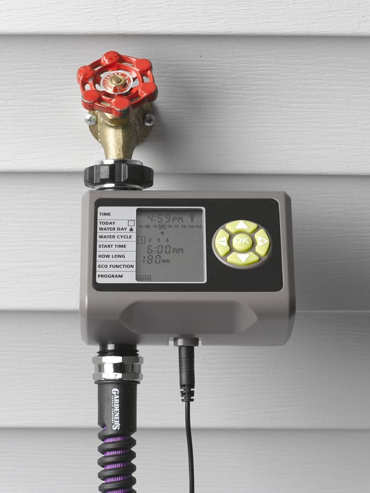 Programmable Irrigation Timer with Soil Moisture Sensor