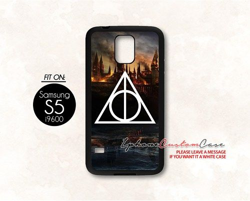Harry Potter Deathly Hallows for Samsung S5 Black case