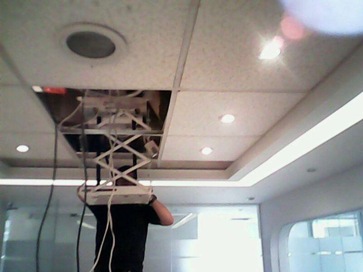 Ajuste de cableado del video proyector