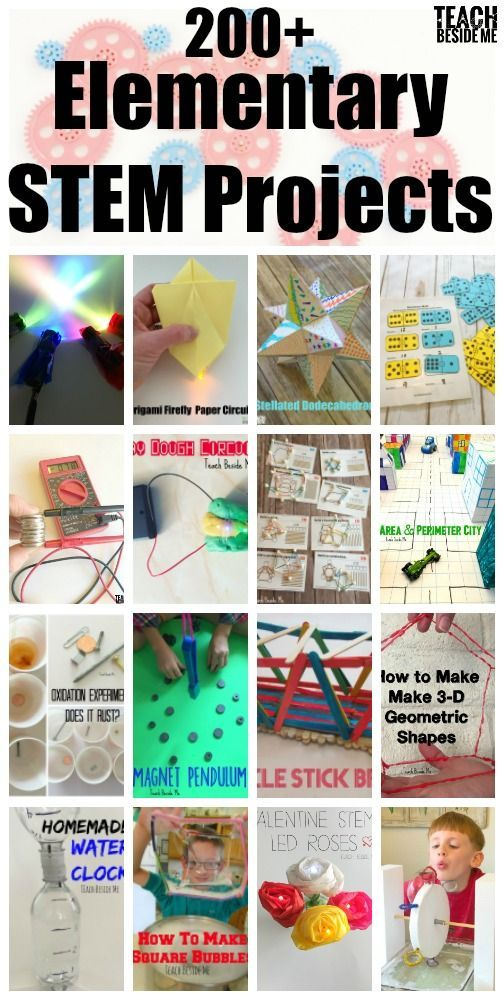200+ Elementary STEM projects for teachers.  Creative hands-on Stem and STEAM Education