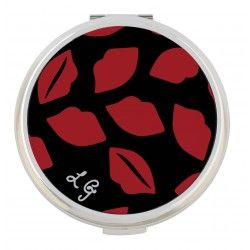 Lulu Guinness Lip Print Powder #Compact #Jewellery #Accessories #scarf