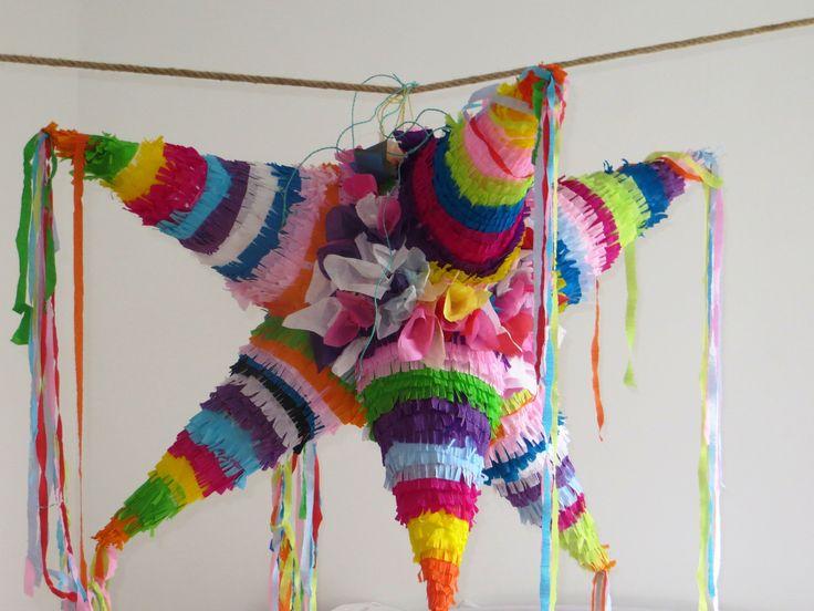 Piñata mexicaine géante à 8 pointes multicolores pour vos fêtes de noël ou de fin d'année : Sculptures, gravures, statues par laly-cie