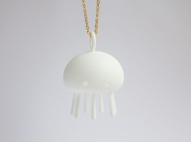 Jelly time! Jellyfish Pendant 3d printed