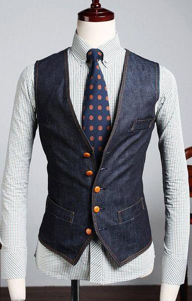 Online Shopping The New Men's Denim Vest Free Shipping Brand Jeans Vest Men Cowboy Sleeveless Jacket waistcoat Size M-XXL 17.74   m.dhgate.com