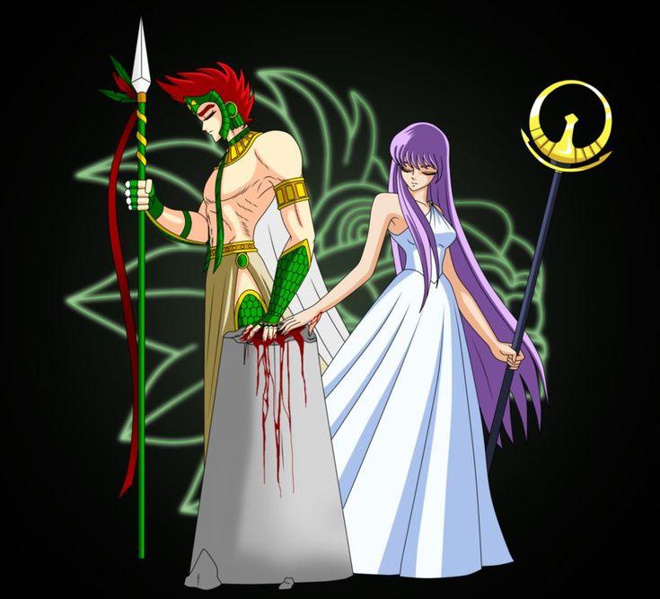 Quetzalcoatl Y Athena Pilar De Sacrificio. By Angel-Corp