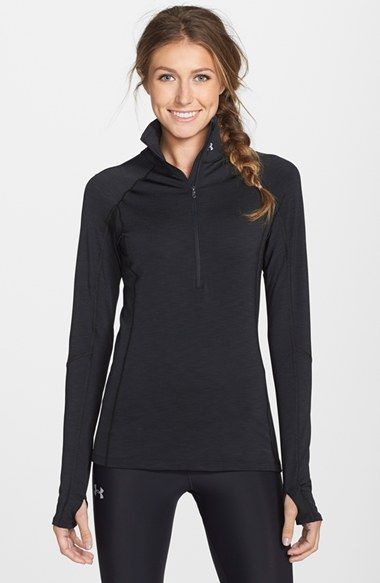 Free shipping and returns on Under Armour ColdGear® Half Zip Top at Nordstrom.com. Don't let the temperature impede your plans to get out. This raglan-sleeve top, with its soft mélange texture, keeps you cozy and comfy. Dual-layer EVO ColdGear construction traps in heat while wicking away sweat, offering warmth and comfort on chilly days.