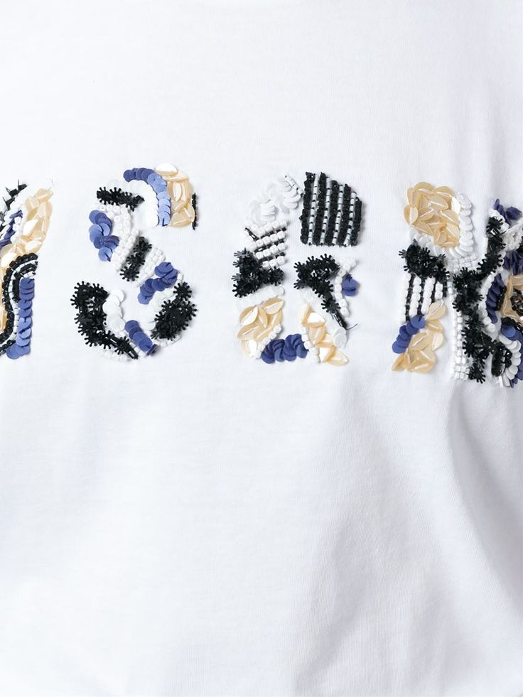 Msgm Beaded Logo T-shirt - Projecteurs - Farfetch.com