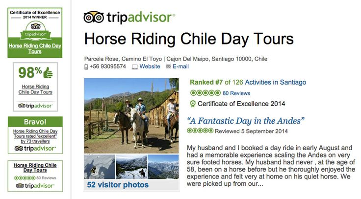 Horseback tours into the Santiago Andes. See the real Chile!