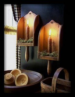 Wood candle scoops. Just bought two of these at a thrift store to Prim.