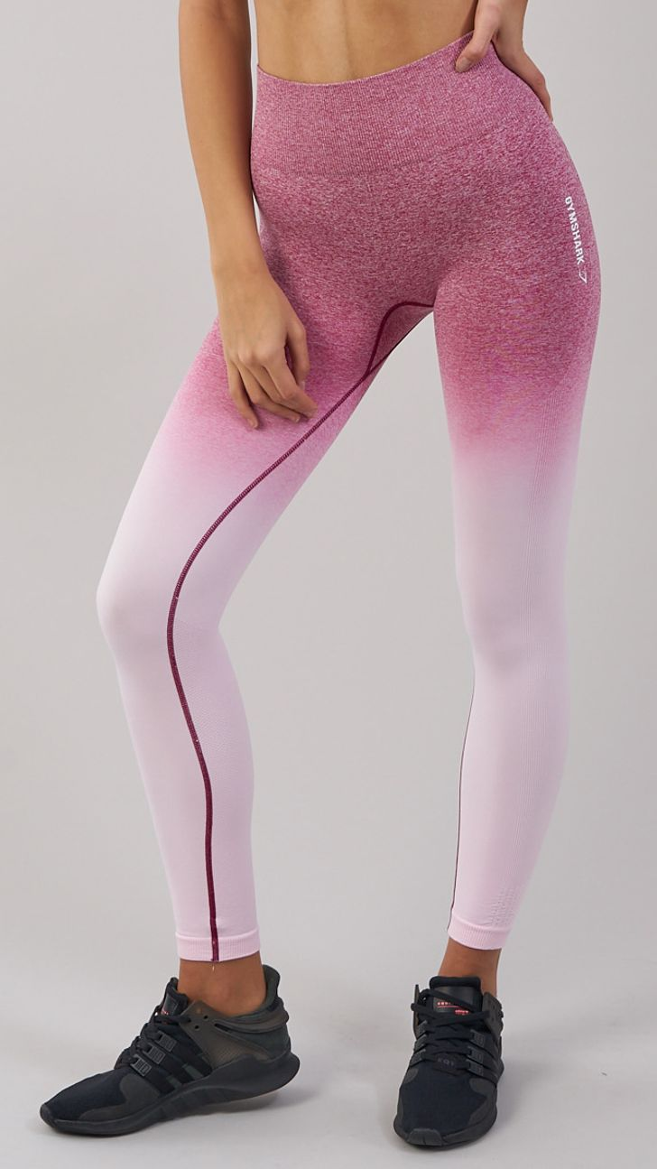 44a64ff55d9fd The Gymshark Ombre Seamless Leggings are perfect for both cardio and weight  training, due to its durable stretch fabric providing a close, yet  comfortable ...